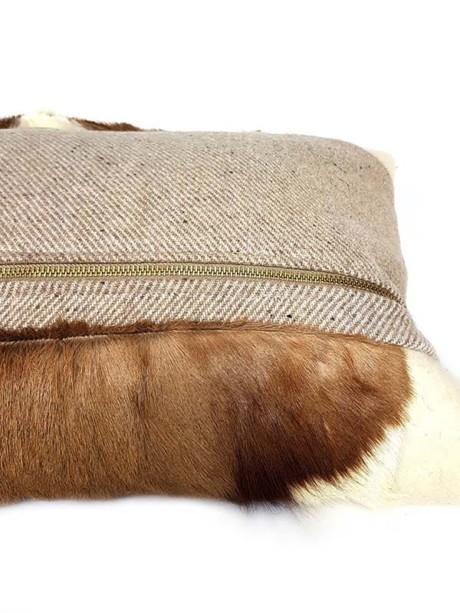 Goat Mohawk Lumbar Pillow Zipper