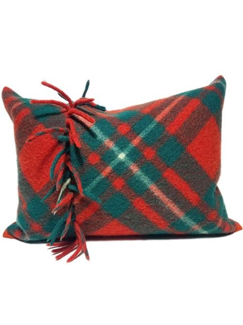 Macgregor Clan Tartan Lumbar Pillow Front