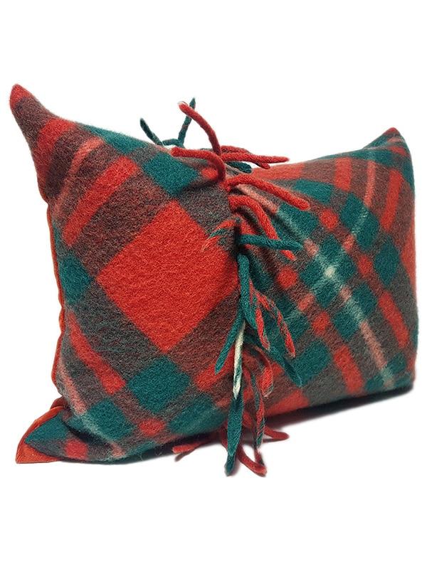 Macgregor Clan Tartan Lumbar Pillow Side