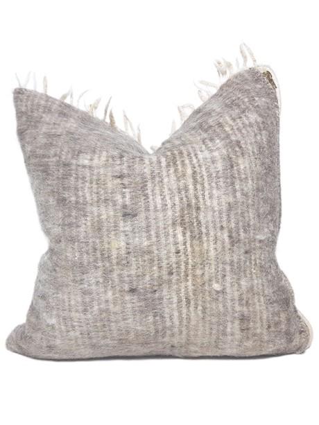 Momostenango Wool Chevron Throw Pillow Back