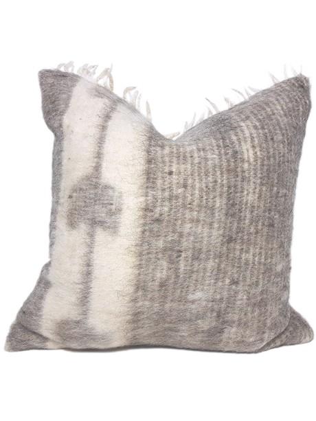Momostenango Wool Chevron Throw Pillow Front