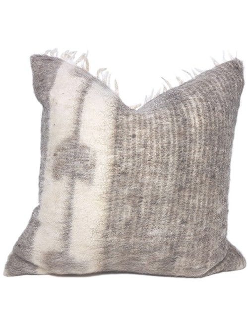 Momostenango Wool Chevron Throw Pillow Front
