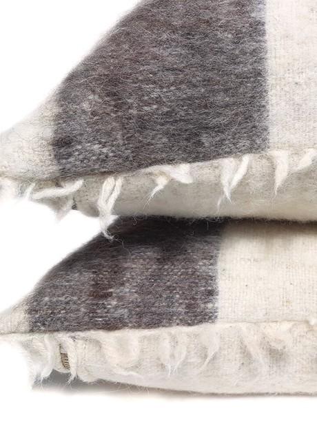 Momostenango Wool Chevron Throw Pillow Stack Zoom