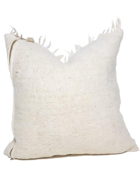 Momostenango Wool Chunky Stripe Throw Pillow Back