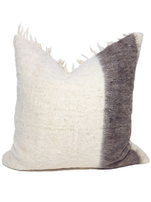 Momostenango Wool Chunky Stripe Throw Pillow Front