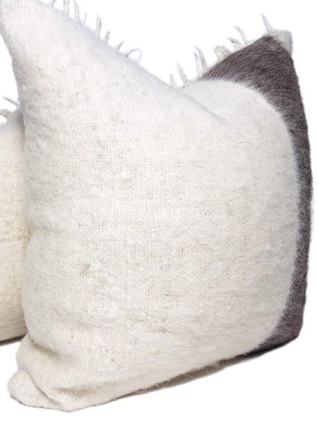 Momostenango Wool Chunky Stripe Throw Pillow Side