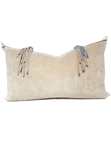Navajo Nation Fringed Lumbar Pillow Fringe Back