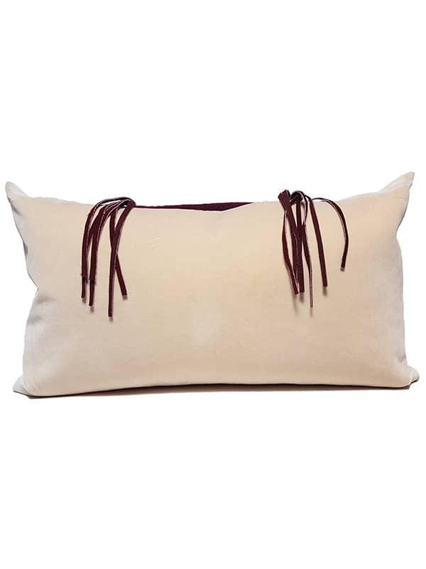 Needle Point Fringe Lumbar Pillow Back