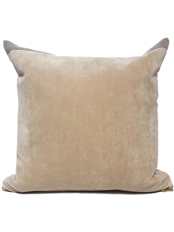 T Fringe Felted Throw Pillow Back