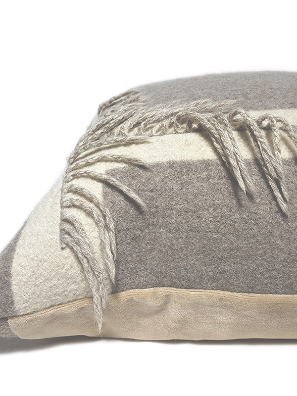 T Fringe Felted Throw Pillow Flat