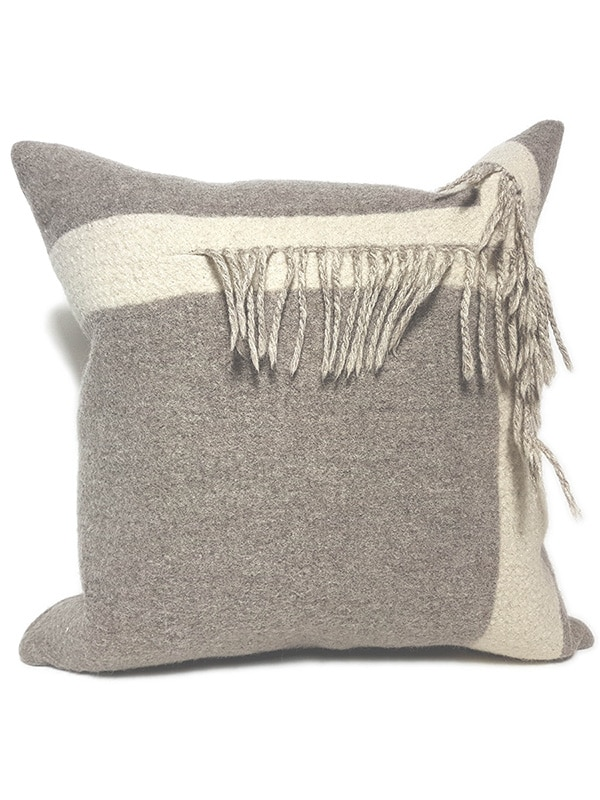 T Fringe Felted Throw Pillow Right