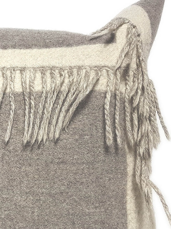 T Fringe Felted Throw Pillow Zoom