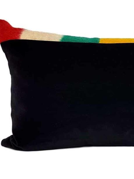 Vintage Hudson Bay 2 Point Lumbar Pillow Back