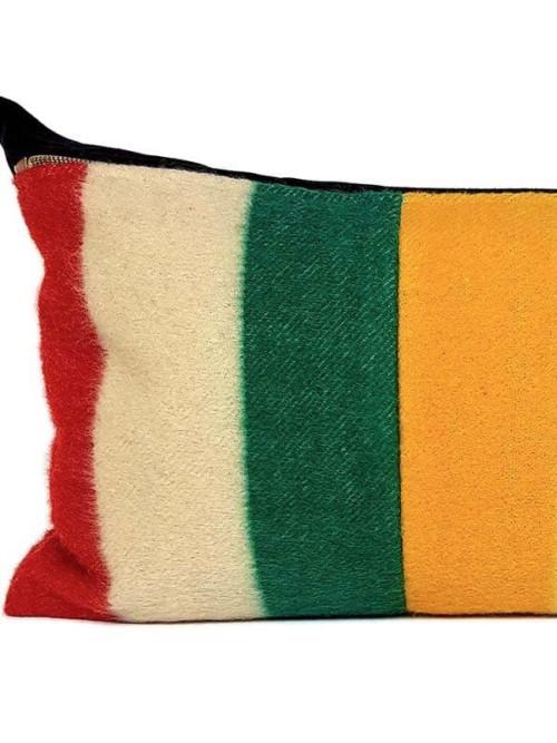 Vintage Hudson Bay 2 Point Lumbar Pillow Feature