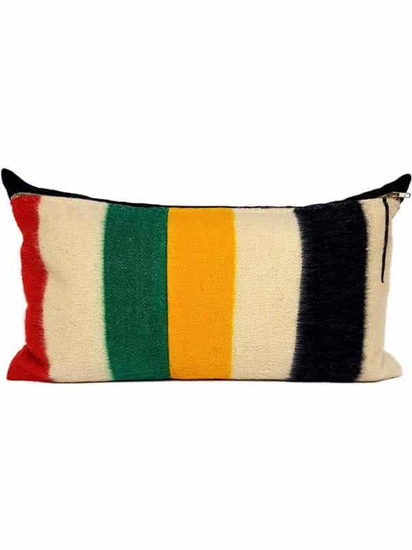 Vintage Hudson Bay 2 Point Lumbar Pillow Front
