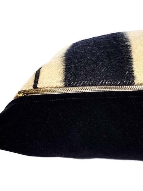 Vintage Hudson Bay 2 Point Lumbar Pillow Zipper